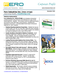 Fero Corporate Profile
